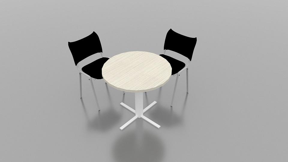 mesa pequeña redonda